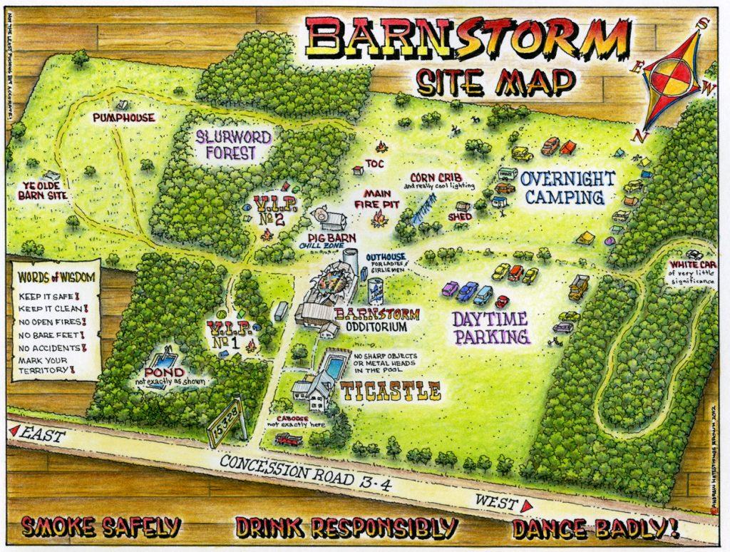 Barnstorm site map