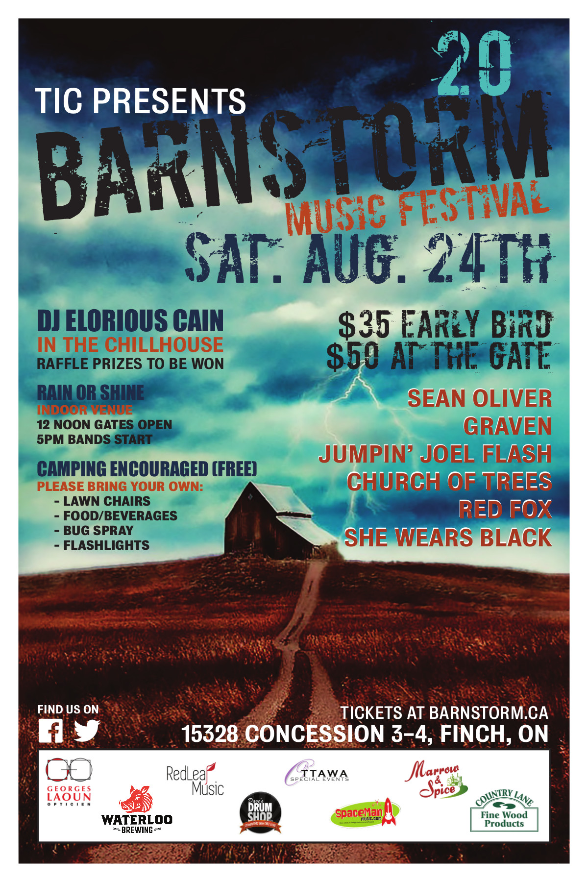 Official Barnstorm 20 Poster Launch - We are proud to share!